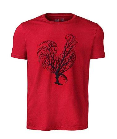 Camiseta Estampada Made in Mato Vermelha