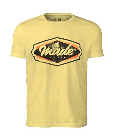 Camiseta Estampada Made in Mato Classic Logo Amarela