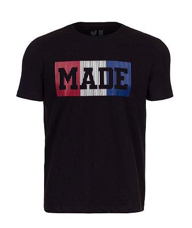 Camiseta Estampada Made in Mato Preta Tri Color