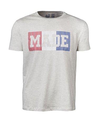 Camiseta Estampada Made in Mato Plastisol Mescla