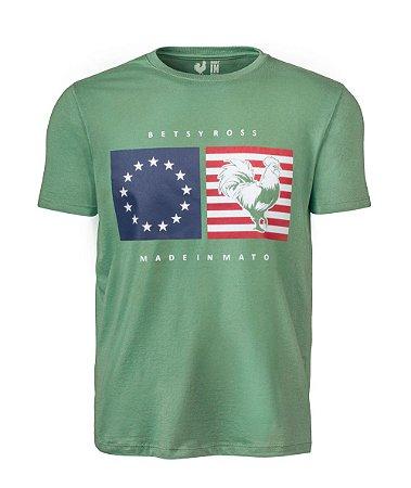 Camiseta Estampada Made in Mato EUA Verde Claro