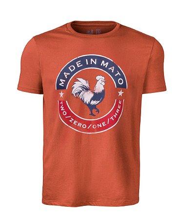 Camiseta Estampada Made in Mato Laranja