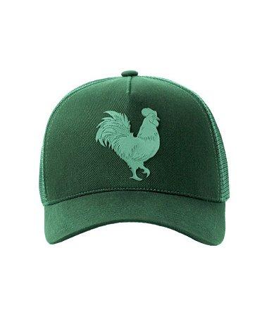 Boné Made in Mato Rooster Plastisol Gel  Verde