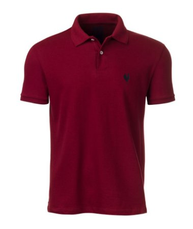 Camisa Polo Made in Mato Masculina Vinho