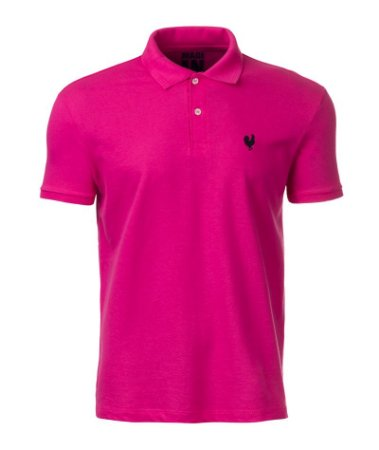 Camisa Polo Made in Mato Masculina Pink