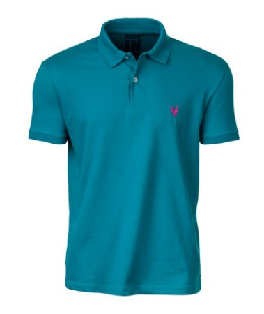 Camisa Polo Made in Mato Masculina Turquesa