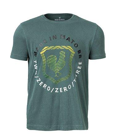 Camiseta Masculina Estampada Musgo Stone