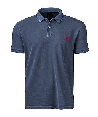 Camisa Polo Made in Mato Masculina Stone Petróleo