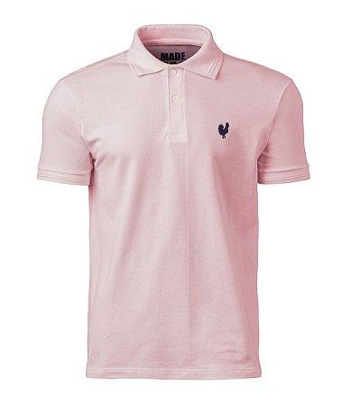 Camisa Polo Made in Mato Masculina Rosa Bebê