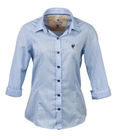 Camisa Made in Mato Feminina Premium Mix Azul