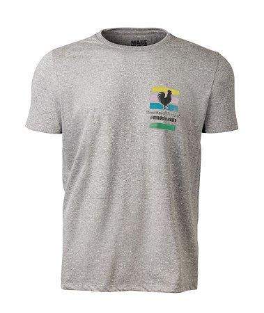 Camiseta Made in Mato Masculina Bike Club Mescla Clara