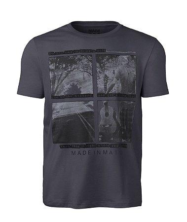 Camiseta Made in Mato Masculina Violeiro Chumbo