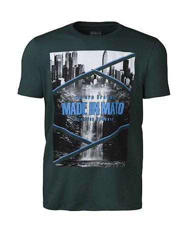 Camiseta Masculina Made in Mato City Verde