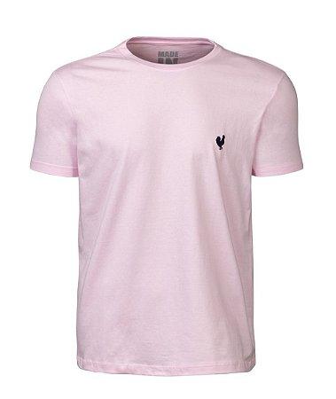 Camiseta Masculina Made in Mato Lisa Rosa Claro