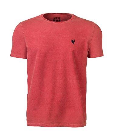 Camiseta Masculina Made in Mato Stone Vermelha