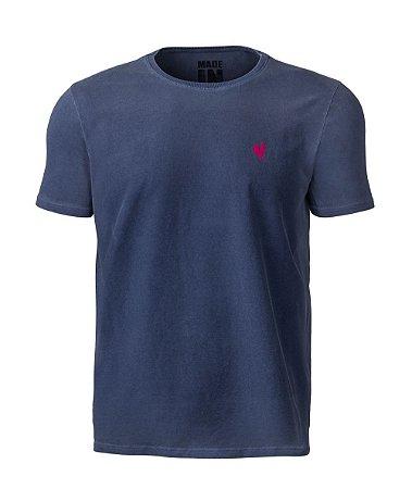 Camiseta Masculina Made in Mato Stone Petróleo
