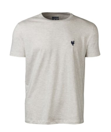 Camiseta Masculina Made in Mato Lisa Mescla Clara