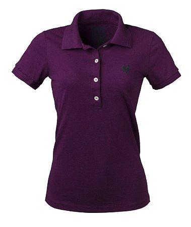 Camisa Polo Feminina Made in Mato Roxa