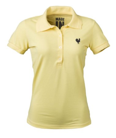 Camisa Polo Feminina Made in Mato Amarela