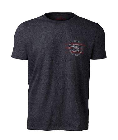Camiseta Made in Mato Masculina Made On Mescla Escuro com Estampa nas Costas