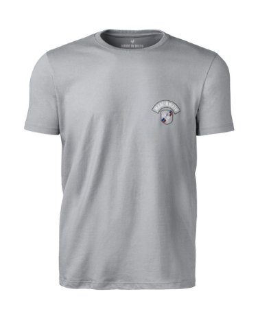 Camiseta Made in Mato Rooster Style Cinza com Estampa nas Costas