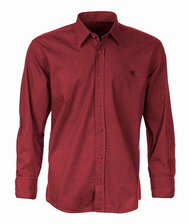 Camisa Made in Mato Masculina sem Bolso Lisa Vermelha
