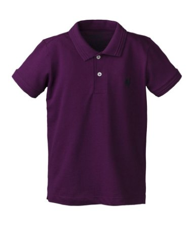 Camisa Polo Infantil Made in Mato Roxa