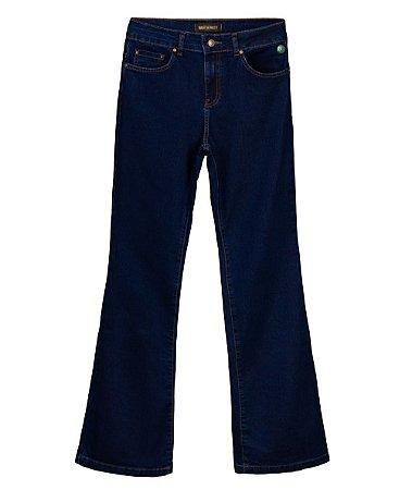 Calça Jeans Made in Mato Feminina Flare Azul