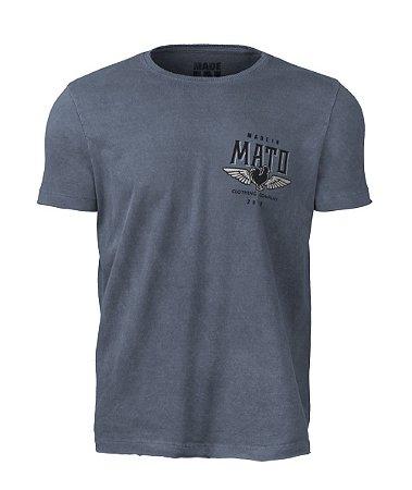 Camiseta Made in Mato Stone Marinho com Estampa nas Costas