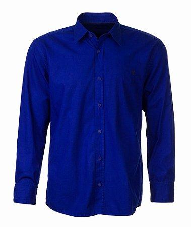 Camisa Masculina Made in Mato Índigo sem Bolso