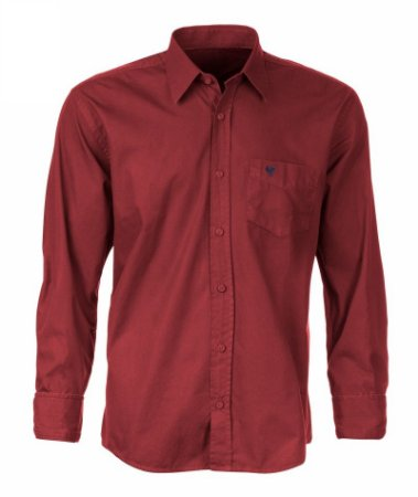 Camisa Made in Mato Masculina com Bolso Vermelha