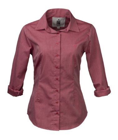 Camisa Made in Mato Feminina Rosa Slim