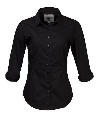 Camisa Made in Mato Feminina Preta Slim