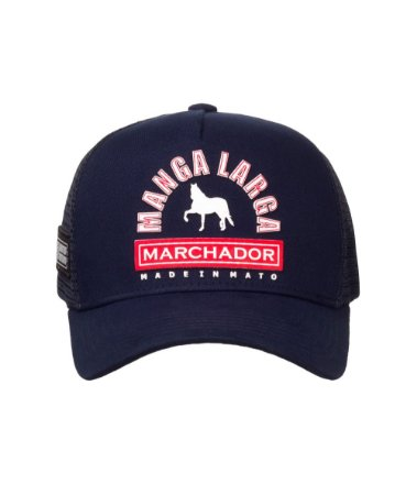 Boné Made in Mato Trucker Manga Larga Marchador Marinho