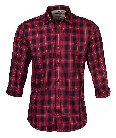 Camisa Xadrez Made in Mato  Mix Vermelha