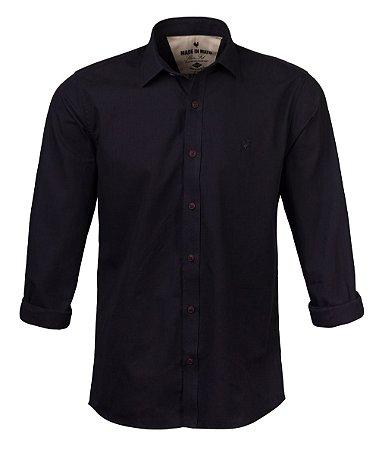 Camisa Made in Mato Mix Fios Preta