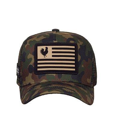 Boné Made in Mato Trucker Flag Military Adulto
