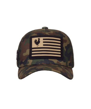 Boné Made in Mato Trucker Flag Military Infantil