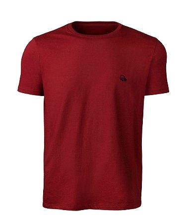 Camiseta Básica Masculina Vermelha índio