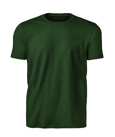 Camiseta Básica Verde Floresta índio