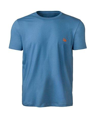 Camiseta Básica Masculina Azul índio