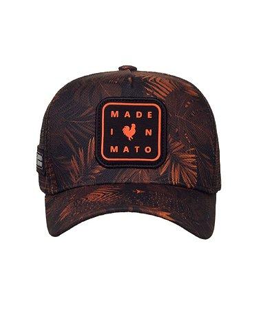 Boné Made in Mato Trucker Folhagem Gold Adulto