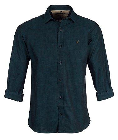 Camisa Made in Mato Masculina Verde Petróleo