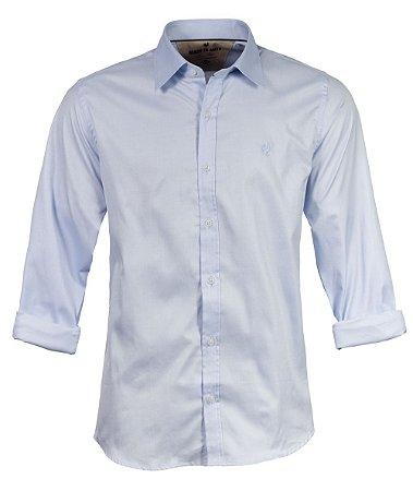 Camiseta Made in Mato Masculina Tricoline Azul Claro