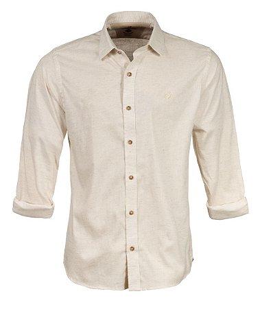 Camisa Made in Mato Masculina Levi Areia