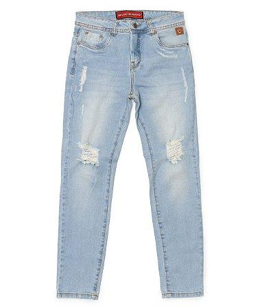 Calça Jeans Feminina Made in Mato Skinny Delavee Clara
