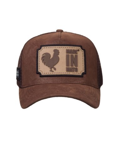 Boné Made in Mato Trucker Nobuck Marrom
