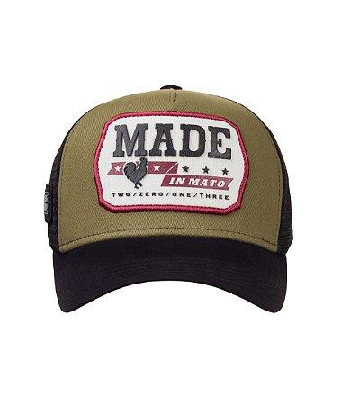 Boné Made in Mato Trucker Vintage Oliva