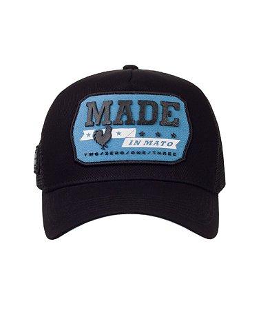 Boné Made in Mato Trucker Vintage Blue