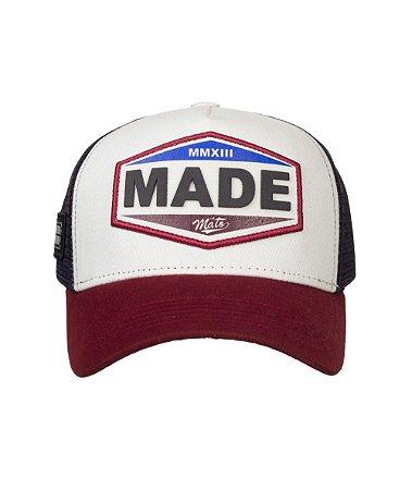 Boné Made in Mato Trucker Vintage Bordô